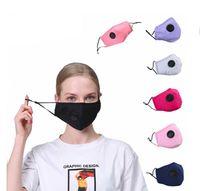 أقنعة قابلة لإعادة الاستخدام للجنسين القطن وجه مع النفس صمام PM2.5 الفم قناع مضاد للغبار نسيج Fliter قناع قابل للغسل DROP سفينة Epack