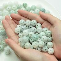 30 unids 100% Natural Grade A Green Jadeite Jade Unique Lucky New Loose Beads envío gratis