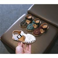 Enfants Sandales Mode Chaussures d'été 2020 Explosion bébé creux Tissé Sandales Garçons Filles Chaussures unisexe Sandales plates Enfant New __gVirt_NP_NN_NNPS<__ Arrivée