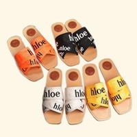 Chloe Cruz de cadena de la correa del verano Zapatillas Mujeres Diapositivas Inicio piso Zapatos de lino de la correa silenciosa Sweat Zapatillas Mujer Sandalias