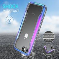 Novo estilo capa de protecção anti-queda metal militar para o iPhone 8 telefone móvel caixa de metal anti-queda capa protetora
