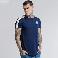 T 셔츠 남성 실크 실크 남성 캐주얼 티셔츠 Siksilk 힙합 남성 티셔츠 스트리트 브랜드 의류 티 시크 남성 티셔츠 탑