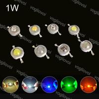 حبات خفيفة عالية الطاقة 1W الثنائيات المصابيح رقاقة الدافئة الأبيض الأشعة فوق البنفسجية الإضاءة الملحقات متعددة الألوان الإضاءة ل LED أضواء النازل لمبة تنمو EUB