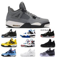 Nike Air Jordan Retro 4  High Black Red Sports Mens Basketball Shoes For High Quality Mens Comfortable Fashion men Sneakers Size 40-45