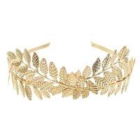 Mode Griechenland Gold Silber überzogene Legierungs-Haarband-Blatt-Form Mädchen Brauen Stirnband-Hochzeit Haarschmuck Hochzeit Geschenke