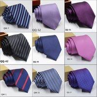 Erkekler Için 2019 Erkek Ekose Polyester Kravatlar Marka Neckwear Business Suit Kravat Polyester 1200 İğne Düğün Jakarlı Şerit Kravat