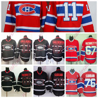 Menschen Günstige Montreal Canadiens Jerseys 11 Brendan Gallagher 76 PK Subban 67 Max Pacioretty genähte Qualität Hockey Jersey