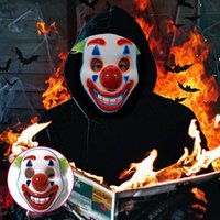 2019 Cosplay DC Film Joker Arthur Fleck Maskesi Palyaço Masquerade Cadılar Bayramı LED Tam Yüz Maske