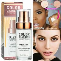 30ml TLM Flawless Cor Mudar Foundation Líquido Maquiagem alteração no seu tom de pele por apenas Blending