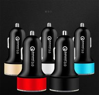 QC3. 0 fast 2. 4A Car Charger Auto Power Adapter dual usb Led ...
