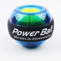 Arco iris LED del músculo de la energía bola bola de la muñeca Trainer Relax giroscopio Powerball Gyro Brazo ejercitador fortalecedor de fitness Equipos Y200506
