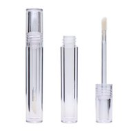 100pcs Vuoto 7.8ML Lipgloss Tubi rotonda trasparente Lip Gloss tubi con la bacchetta Svuotare Lip Gloss tubi chiari