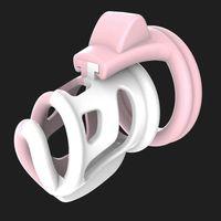 Moda Contraste de color orificio de ventilación Diseño Castidad Masculina Q227 dispositivo