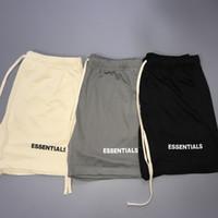 Модный страх Божий OS европейской и американской популярной марки Fog Double Wire Mesh Shorts Серый Абрикосовый Черный висячие штаны Зубчатые Сыпучие