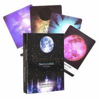 Moonology Oracle карта колода 44-карты и электронного путеводитель карт Таро игра игрушка Луна Power To Gain Clarity на вашей жизни