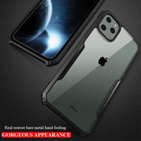 Para iPhone 11 Pro Max funda transparente a prueba de golpes PC funda trasera dura para iPhone XR XS MAX 7 8 Plus