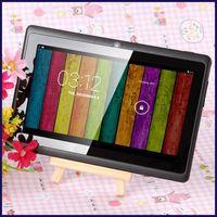 7 inç A33 dört çekirdekli tablet PC Q8 Allwinner Android 4.4 KitKat Kapasitif 1.5 GHz 512 MB RAM 8 GB ROM WIFI Çift Kamera feneri S88 A23 MQ12