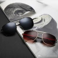 Nouvelle marque de mode 3560 sunglassesmetal driver conduite lunettes de soleil carrés hommes anti-reflets lunettes de soleil en gros Goggles Eyewear 4 couleurs