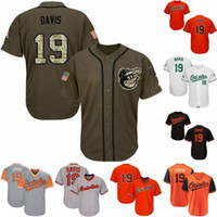 Herren 19 Chris Davis Baltimore Jersey 100% genäht Chris Davis Flex Base Cool Base Orioles Baseball Jerseys Kostenloser Versand