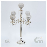 76CM height Gold Silver plated metal Candlestick 5 arms Cand...
