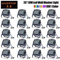 12 unidades LED PAR 20x18W RGBWAP LED Light Stage Light Par Com DMX512 para discoteca DJ máquina projetor Party Decoration Pro Stage Lighting