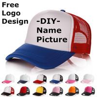 Fabrika fiyatı! Ücretsiz Özel Tasarım Kişilik DIY Trucker Hat Beyzbol Şapka Bay Bayan Blank Ayarlanabilir Hat Yetişkin Gorras Mesh