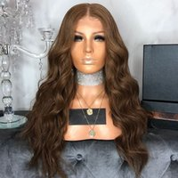 Hot Popular Synthetic Hair Lace Front Wig Long Curly Wavy Br...