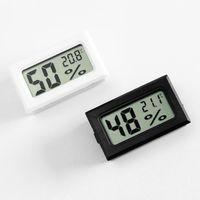 Mini LCD digital de Medio Ambiente termómetro higrómetro Temperatura Humedad medidor de temperatura del frigorífico probador exacto del sensor LJJP11