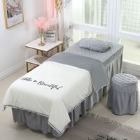 4- 6pcs Beautiful Beauty Salon Bedding Sets Massage Spa Use C...