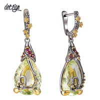 Deczign New Water Drop Cubic Zircon Earrings For Women Coppe...