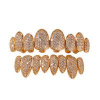 Grils de cristaux de cristal dents de cristal dents de cristal diamant grillz grill