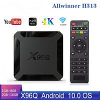 X96Q Smart Android 10.0 TV Box Allwinner H313 Quad Core 2 GB 16 GB Supporto 4K X96 Q Set Topbox Media Player