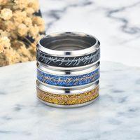 Jewelry Designer in acciaio inox Signore Anello Oro Argento Lettera Coraggioso Speranza Inspirational Ring per donne degli uomini