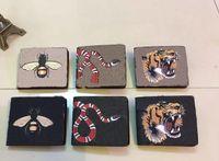 Portefeuille Mens Portefeuille Gunuine Cuir Portefeuilles pour hommes Porte-monnaie Portefeuille Designer animal imprimé avec boîte à poussière