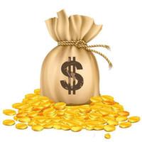 Nuevo dinero de pago caliente para un costo adicional de caja o envío de DHL, solo 1 pieza = $ 1