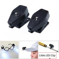 Şapka Cap Gözlük Araçlar LED Kitap Okuma Işıklar Açık Mini Gece aydınlatması LED Esnek 360 Derece Dönme Klip