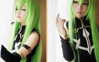 Peluca envío gratis Cosplay Code Geass R2 C.C.Long Apple Green Mix peluca recta 100 cm