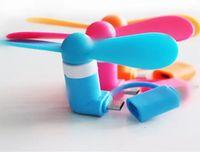 Mini USB Fan 2 in 1 Soğutma Fanı Taşınabilir Güç MIKRO USB Fan Samsung OTG Android için