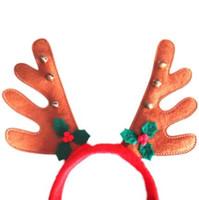 Boże Narodzenie reniferów poroże pałąk Xmas Piękny Elk Włosy Band Christmas Ornament Decor Deer Reindeer Headband Head Hoop Hot