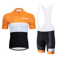 2020 Strava Cycling Team Jersey Gel Pad Bike Shorts Ropa Ciclismo Mens Summer Bike Wear Quick Dry Bicycling Maillot Culotte 19D