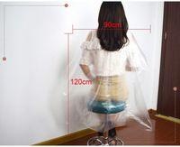 90x120cm Einweg-Haarschneidkappen Wasserdichte transparente Waschkolben Shampoo-Kap Salon Haarschnitt saubere Abdeckungen 100pcs / paket