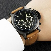 All Subdials Work AAA Mens Watches Leather Strap Quartz Wris...