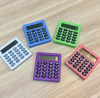 Cute Student Tasche 8 Digitale Mini elektronische Taschenrechner Candy 5 Farben Berechnung Münzen Batterien Rechner Bürobedarf Geschenk