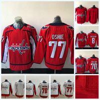 Youth Youth Washington Capitales 70 Braden Holtby 77 T.J. Oshie 8 Alex Ovechkine Jersey de hockey sur glace Double Nom et numéro de couture