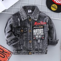 Jeans Jacket Boys Kids 2020 Autumn Brother Motorcycle Coat D...