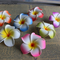 4 cm Plumeria Schaum Frangipani Blume Künstliche Seide Gefälschte Ei Blume Für Hochzeit Dekoration
