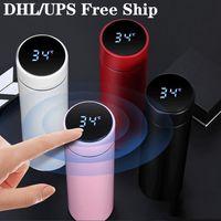 Fashion Smart Mug Temperatura Display Vuoto Acciaio inox Bottiglia d'acqua Bollitore Bollitore Touch Screen Touch Screen Cup
