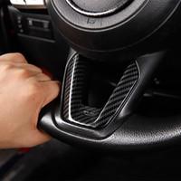 Laccato nero / rosso / decorazione del volante in fibra di carbonio Trim ABS APPRESS APPRESSO APPORTO PER MAZDA 3 6 CX-3 CX-5 CX-8 CX-9 2018 2019