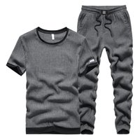 Kısa kollu Eşofman Pantolon Piece Gömme Tide T Shirt Running İki parçalı Büyük Yards Mens Tasarımcısı Leisure Suit Erkek Yaz İnce Kesit