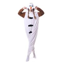 Novo Unisex Animal Adulto Boneco De Neve Dos Desenhos Animados Pijama Kigurumi Onesies Trajes Cosplay Macacões Presente de Natal Desgaste Do Partido